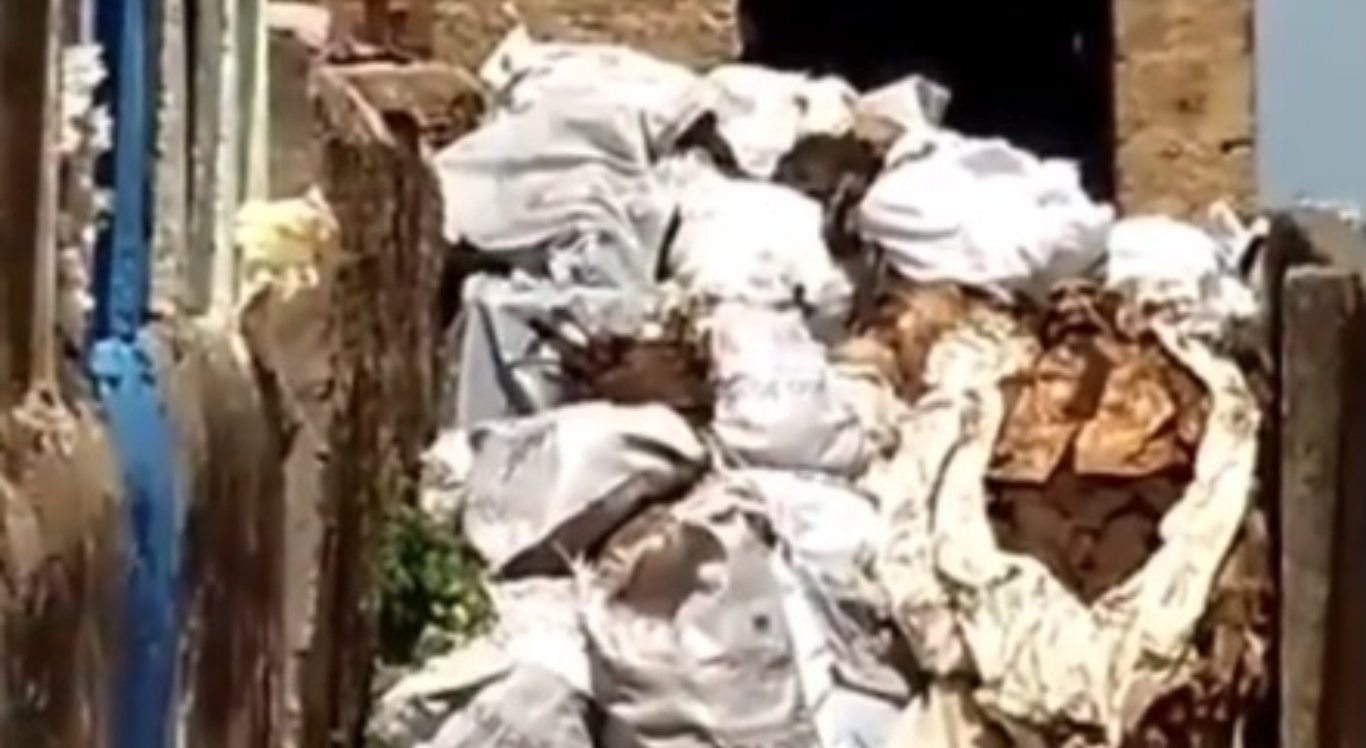 As imagens mostram as ossadas amontoadas em Vitória de Santo Antão