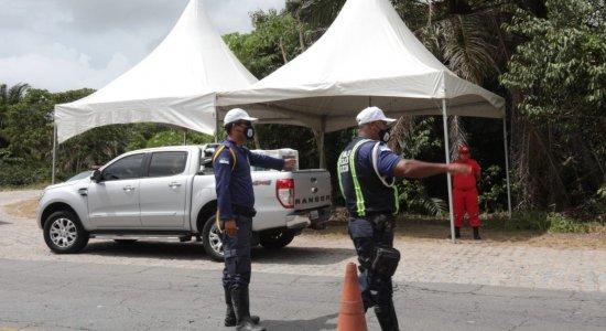 Covid-19: barreira sanitária é montada na Ilha de Itamaracá durante quarentena
