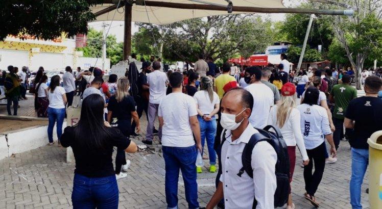 Manifestantes em Petrolina