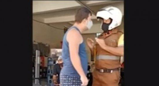 O agente da Divitran (Divisão de Trânsito e Transportes) foi agredido