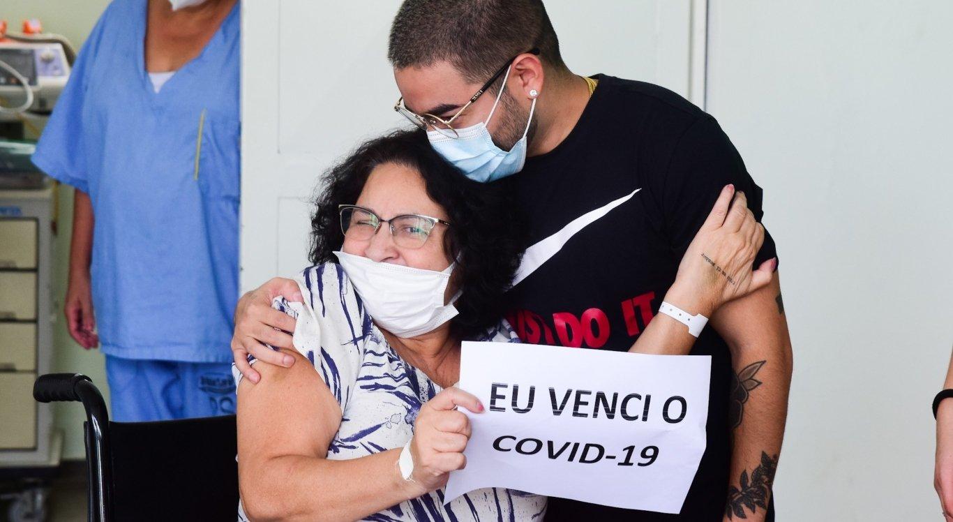 A mãe de Yudi teve alta após se recuperar contra Covid-19