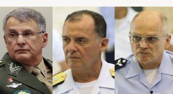O Ministério da Defesa anunciou hoje (30) a saída dos comandantes da Marinha, do Exército e da Aeronáutica.