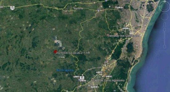 Mais um tremor de terra é registrado na Região Metropolitana do Recife