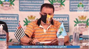 Prefeito de Mongaguá-SP, Márcio Melo Gomes (Republicanos), chorou durante transmissão ao vivo