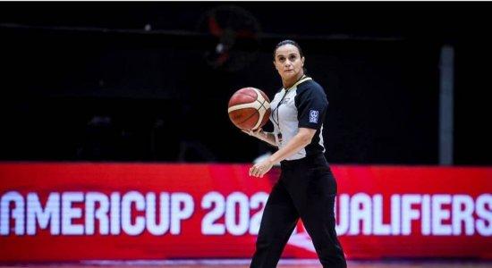 Andreia Silva foi selecionada para apitar no basquete na Olimpíada de Tóquio