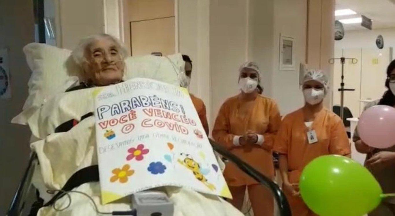 Idosa de 110 anos se recuperou do coronavírus