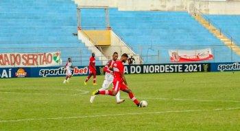 Salgueiro e CRB ficaram no empate em 1x1, pela Copa do Nordeste