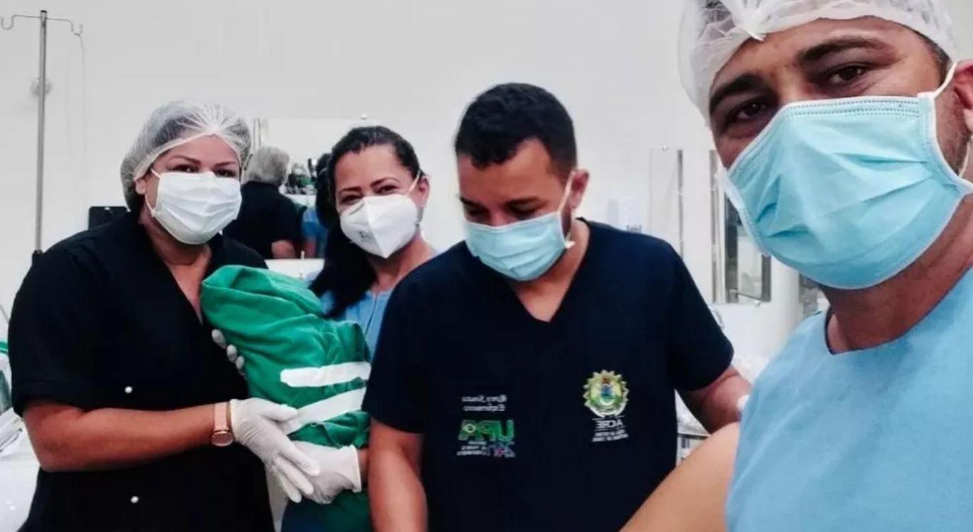 Equipe da UPA fez o parto na emergência da unidade.