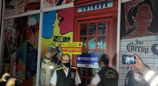 Boate é interditada após realizar festa clandestina na Zona Sul do Recife