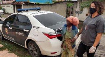 A idosa de 75 anos foi resgatada pela Polícia Civil