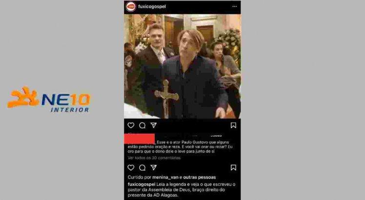 Pastor diz que ora para que Paulo Gustavo morra