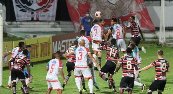 Santa Cruz empata com Salgueiro e aumenta sequência sem vitórias