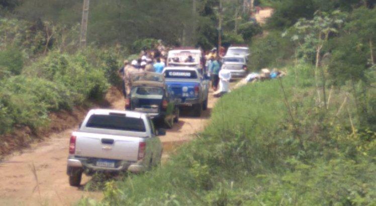 Lugar onde o corpo foi encontrado, em Garanhuns