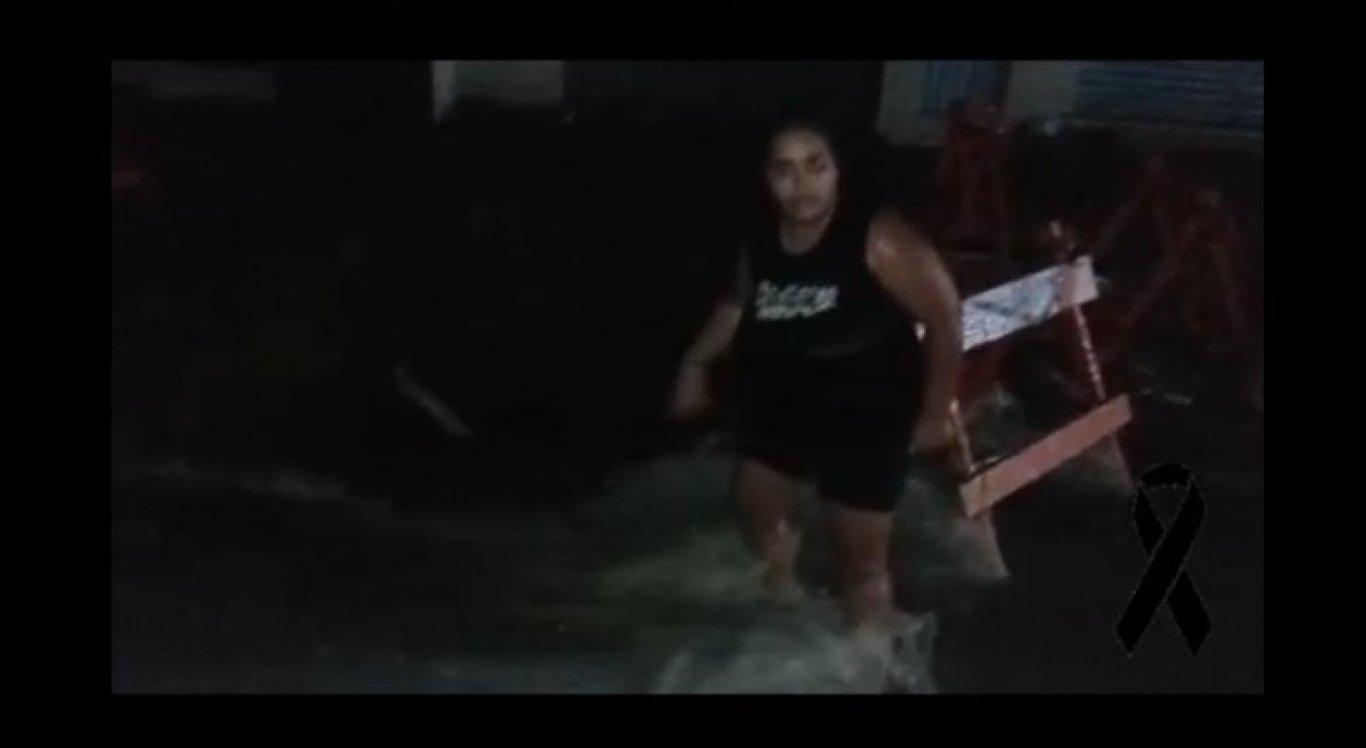 Cláudia gravou vídeo reclamando do buraco na rua
