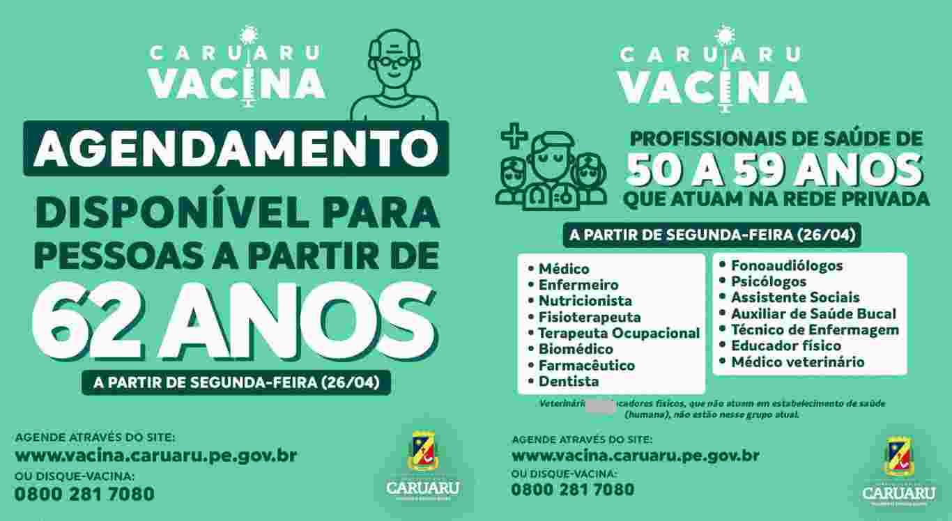 Campanha de vacinação em Caruaru é ampliada