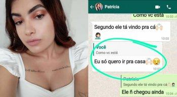 Patrícia trocou mensagens com a mãe antes de desaparecer