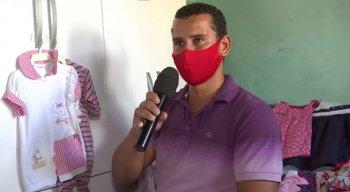 Pai da criança se emocionou durante entrevista à TV Jornal