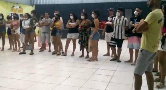 Festa clandestina com mais de 40 pessoas em Jaboatão dos Guararpes é encerrada pela PM e Procon