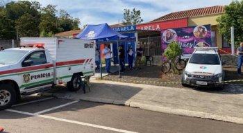 Creche onde aconteceu a chacina no município de Saudades, em Santa Catarina