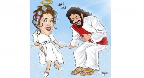 Paulo Gustavo sendo recebido por Deus no céu, e Jesus gargalhando com piada: veja desenhos homenageando comediante