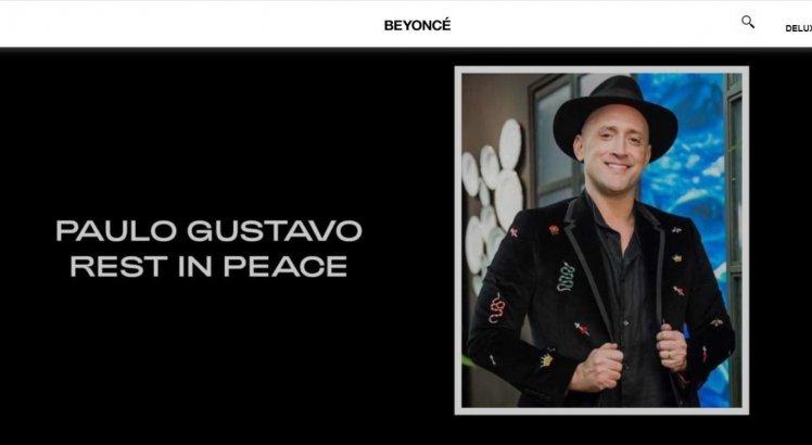 Site de Beyoncé faz homenagem a Paulo Gustavo