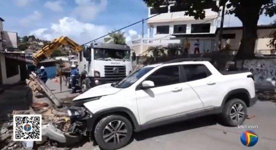 Perseguição policial termina em acidente na Zona Sul do Recife; motorista teria roubado veículo