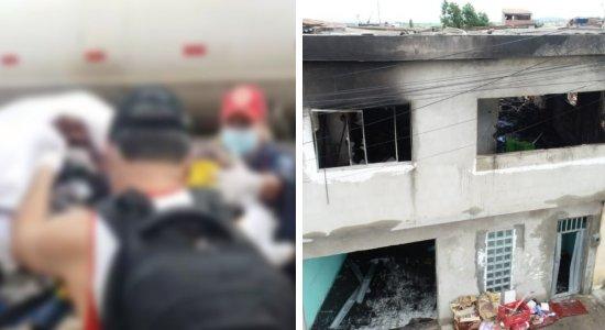Vídeo mostra homem com queimaduras graves após explosão sendo socorrido no Agreste