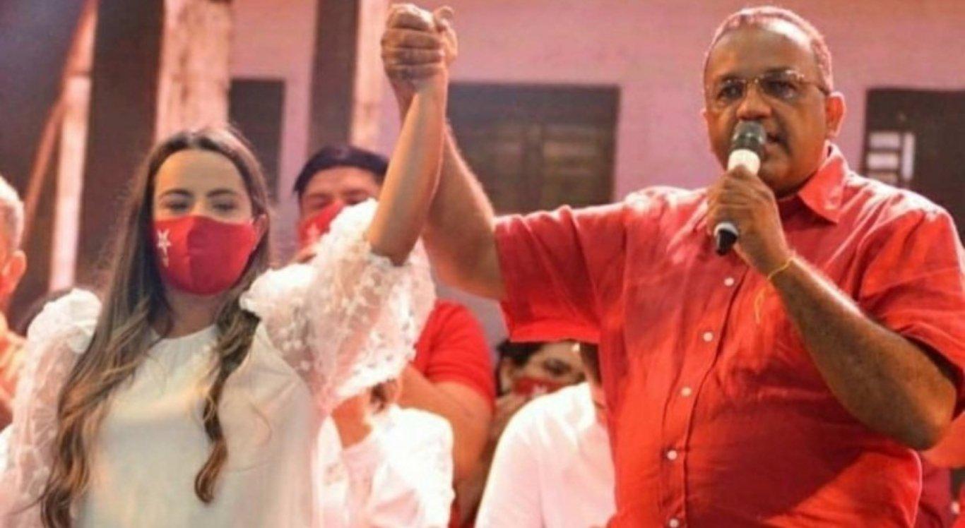 Vice-prefeita Eniale de Codinho (PSD) e prefeito Luiz Aroldo (PT)