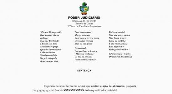 Juíza usa poema para determinar que filhos deem alimentos e cuidados para mãe idosa em Goiás