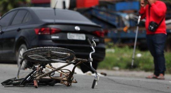 Ciclista morreu no acidente