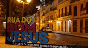A rua é um dos cartões-postais da capital pernambucana