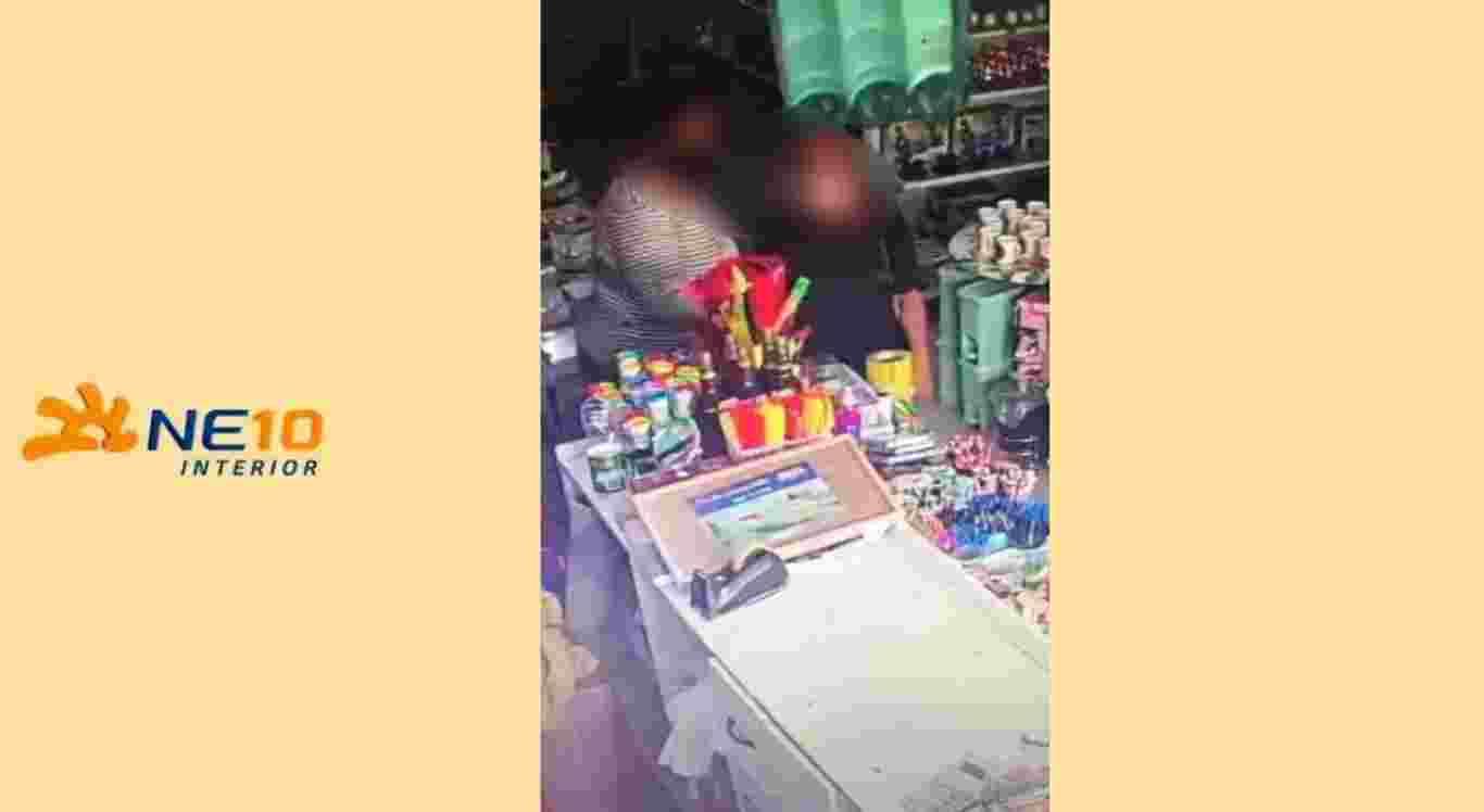 Suspeitas foram flagradas furtando objetos em loja