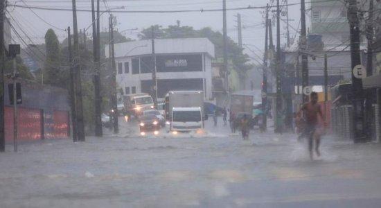 Confira onde teve mais chuva na Região Metropolitana do Recife, nas últimas 24h