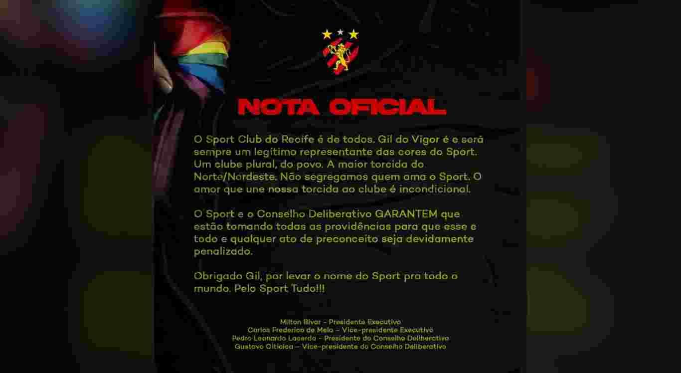 Reprodução/Sport Recife/Instagram