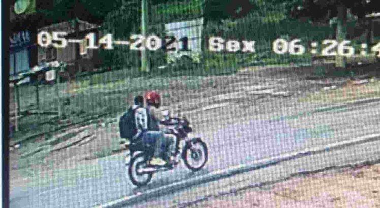 Imagens de circuito de segurança identificaram o suspeito