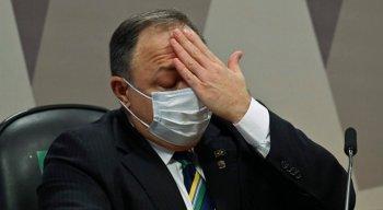 Ex-ministro da Saúde Eduardo Pazuello durante depoimento à CPI da Pandemia