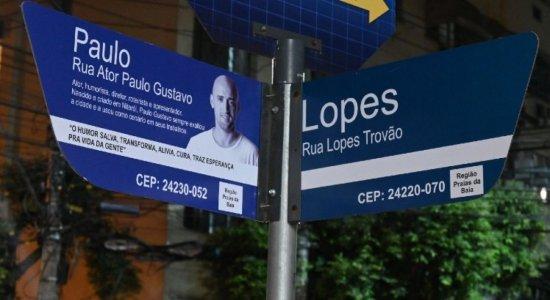 Rua Paulo Gustavo: Prefeitura de Niterói presta homenagem ao ator