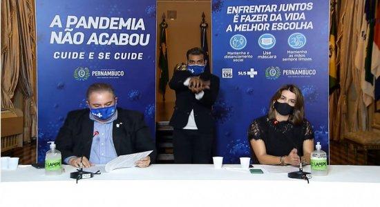 AO VIVO: Acompanhe coletiva do governo, desta quinta (17), sobre situação da covid-19 em Pernambuco