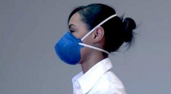 As máscaras PFF2 apresentaram a maior eficiência para todos os tamanhos de partículas