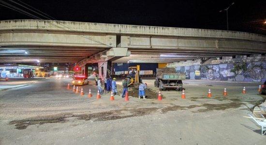 Prefeitura de Caruaru inicia manutenção da via local da BR-104
