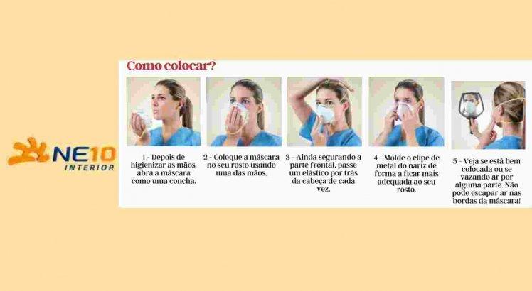 Como colocar máscara PFF 2