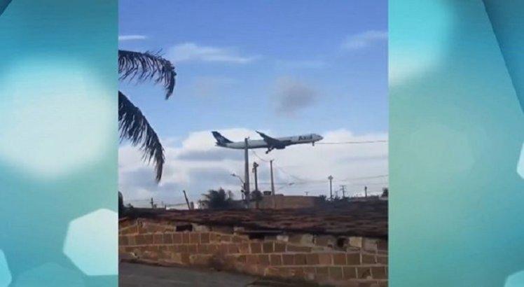 Aviões passam muito perto das casas, no Ibura