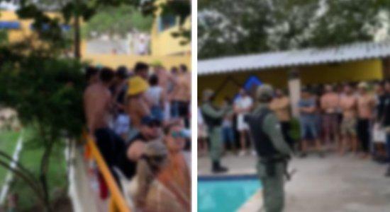 Desrespeitando decreto estadual, rave é interditada em Caruaru; polícia também apreendeu drogas no local