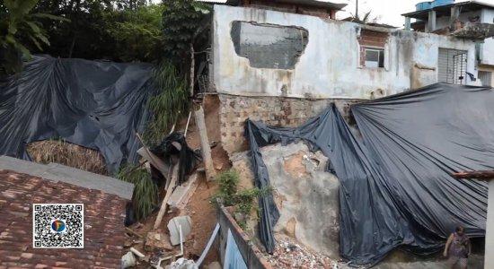 Moradores denunciam barreira que ameaça desabar na Zona Norte do Recife