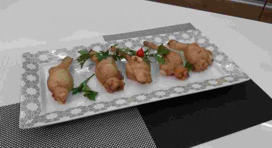 Receita deliciosa de Asinhas Recheadas do chef Rivandro França