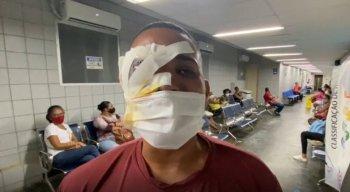 O arrumador Jonas Correia de França, de 29 anos, foi uma das pessoas baleadas pela PM no protesto no centro do Recife