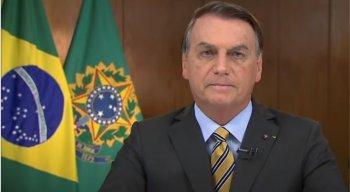 Presidente Jair Bolsonaro faz pronunciamento em rede nacional