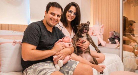 Ana Carolina Calazans nasceu no último dia 10 de maio