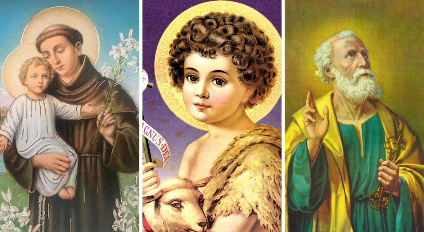 Santo Antônio, São João e São Pedro são celebrados pelos católicos em junho