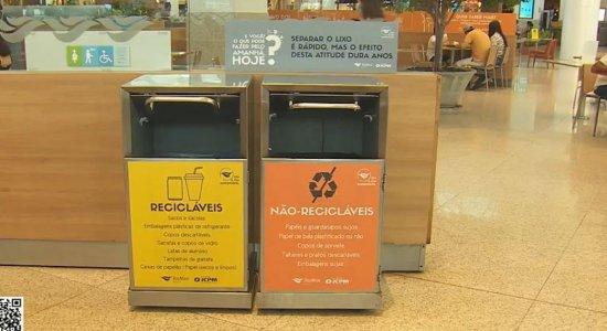 Parceria entre RioMar Recife e catadores de reciclagem beneficia o meio ambiente